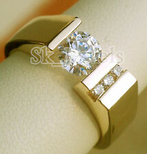 Wedding Men'S Ring Size 9 To 12 0.78ctw Natural Diamond 14K Solid Yellow Gold