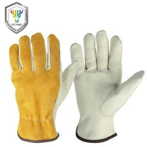 10 x Leather Drivers Gloves Gardening Gloves Work Lorry Drivers Riggers Premium