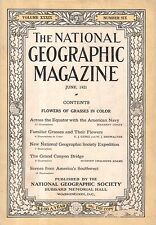 1921 National Geographic June-Coles Phillips; southwest indians; Navy at Equator