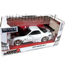 JADA 99479 JDM TUNERS 1993 MAZDA RX-7 1/24 DIECAST MODEL CAR WHITE