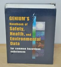 Genium's Handbook of Health, Safety & Environmental Data (Hardcover) NEW!