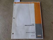 CASE Mini-Excavator CX47 Operator's Manual 6-37931