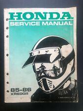 Honda Xr600R Motorcycle Service Manual 85-86 Oem