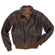 COCKPIT USA 40th ANNIVERSARY A-2 JACKET BROWN MADE IN USA  Z21W009