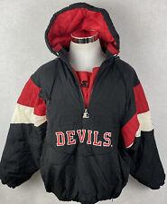 New listing New Jersey Devils Vintage Starter Jacket NHL Pullover Men's Size XL
