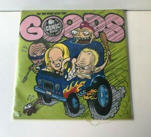 On the Road with the Goops 45 rpm vinyl Record + 10 page B&W Comic