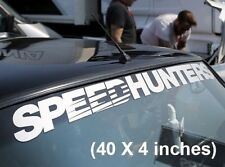 "Speedhunters sticker illest decal canibeat low Drift lowered jdm 40"" X 4"" WHITE"