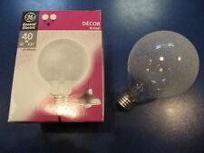 RAREZA Decoración GENERAL ELECTRIC Lámpara de Globo E27 40w G95 Cristal de hielo