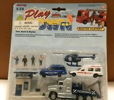 1996 New-Ray 1:72 Play Town Police Rescue Playset