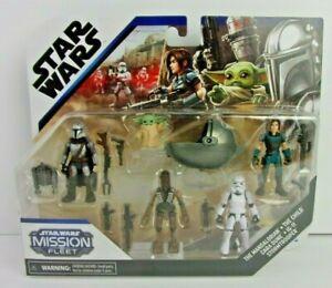 Star Wars Mission Fleet Mandalorian 5-Pack w/ CARA DUNE Grogu The Child IG-11 +