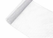 """1 Yard x 10"""" Gray Russian Millinery Birdcage Veil Netting - 17 Colors"""