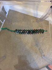 Chan Luu Chunky Green Beads 3 Row Single Statement Bracelet
