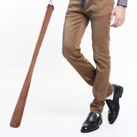 Holz Schuhlöffel Griff lang Entferner von Hand Schuhe einfacher Werkzeug Zubehör