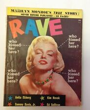 Rave Magazine    August 1956    Marilyn Monroe Photo Cover