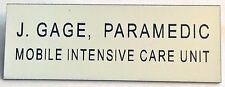 Replica Name plate for John Gage from Emergency  ~ Squad 51 TV Show