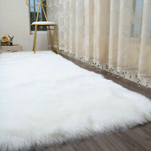 Extra Large Soft Fluffy Faux Fur Sheepskin Rug Warm Floor Carpet Mat Thick Decor