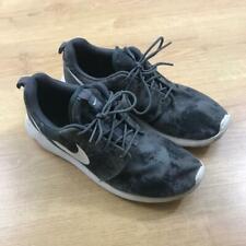 Nike Roshe Run Dark Grey White Camo Print Patterned Size 8 Lightweight Running