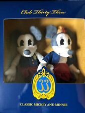 EXCLUSIVE CLUB 33 Disneyland Classic Mickey & Minnie Mouse Plush Dolls New LE