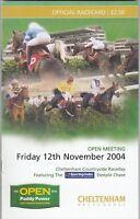 Racecard - Cheltenham 12th November 2004 Sporting Index Steeple Chase