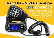 QYT KT-8900D Color LCD Display 136-174MHz/400-480MHz Dual Band Mini Car Radio