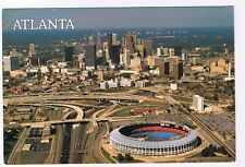 AIR VIEW OF ATLANTA GEORGIA & FULTON COUNTY STADIUM POSTCARD # A3-1910
