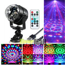 Mini LED Stage Light USB Powered Party Disco Ball Lamp Remote Control 5V Black