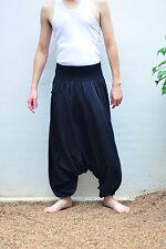 Fisherman Pants Mens Yoga Baggy pantsBoho Aladdin black, Cotton, Free size