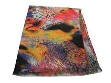 Sciarpa a fiori Pashmina double face misto lana multicolor3 nuova stola