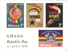 Ghana 1960 Republic Day Declaration Souvenir Sheet MNH (SC# 81a)