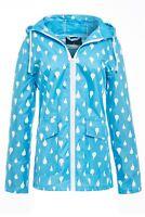 Womens Colour Change Rain Mac Showerproof Raincoat Blue Jacket Size 8 - 16