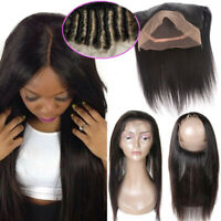 Pre Plucked 360 Full Lace Frontal With Baby Hair Virgin Human Hair US SALE AM227