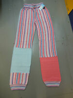 English National Ballet warm-up dance trousers -candy pink's and blue stripes