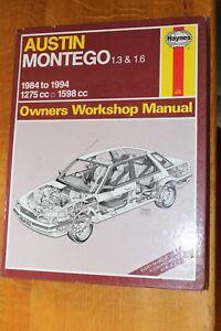 Austin Montego 1984 to 1994  1.3 & 1.6 Haynes Workshop Manual 1066