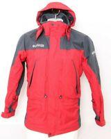 Columbia Omni-Tech Red Full Zip Hooded 3-In-1 Shell Only Jacket Coat Men's S