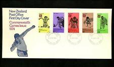 Postal History New Zealand FDC #547-551 sports cycling bowling handicapp 1974
