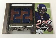 2008 Leaf Limited Matt Forte Authentic Event Worn Jersey Relic 8/15 FRA1