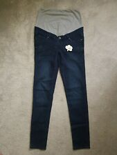 Skinny Maternity Indigo Blue Jeans ~Over the Bump~Extra high cut~size 10 NWT