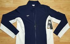 New Speedo Boom Force Warm Up Jacket Navy White Mens Small Women's M kids L