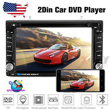 "6.2"" Car Stereo CD DVD Player SAT GPS Navigation Radio Touch Screen 2DIN +Camera"