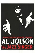 The Jazz Singer Vintage Movie Poster Lithograph Al Jolson