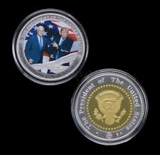 U.S. Donald Trump With Vice President Mike Pence 2017 | Silver Plated Coin