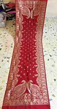 Indian Bridal Wedding Banarasi Jacquard Silk Dupatta Stole Veil Scarf Shawl Sari