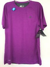 New RUSSELL Training Fit Mens Tee Shirt S 34-36 Dri-Power 360 Ventilation Purple