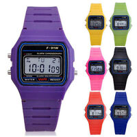 F-91W Digital LED Electronic Sport Wristwatch Unisex Retro Watch Children Acces