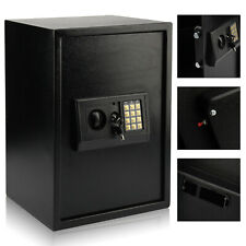 LARGE HIGH SECURITY SECURE KEY STEEL SAFE HOME OFFICE  MONEY SAFETY BOX