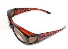 Figuretta Sonnen Überbrille UV400 Polarisiert für Brillenträger Polbrille