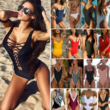 US Women  Bikini One-Piece Swimsuit Push Up Bra Bandage Swimwear Beachwear Sexy