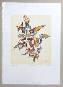 Rolf Cavael Lithofa 70/11 Farblithographie 1970 handsigniert u. nummeriert 12/80