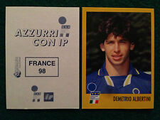 AZZURRI CON IP 1998 98 FRANCE 98 DEMETRIO ALBERTINI Figurina Sticker Merlin New