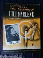 ORIGINAL SHEET MUSIC - THE WEDDING OF LILI MARLENE - ANNE SHELTON